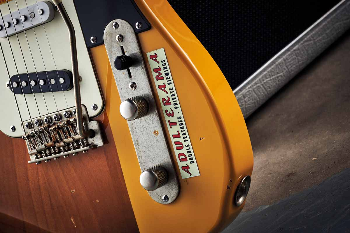 Two Fender-style guitars, jammed together.