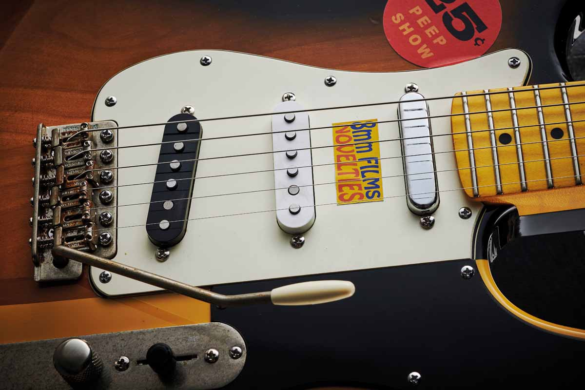 Brandon Hicks' Punkaster comes loaded with three single-coil pickups. You get classic S-style pickups in the bridge and middle positions and a metal covered T-style at the neck. Selection is via a five-way switch.