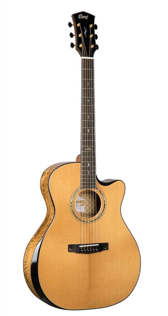 Cort Gold-Edge acoustic-electric guitar front view
